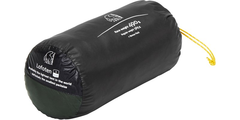 lofoten 1 ulw 151017 nordisk extreme lightweight one man tent forest green packsack 1