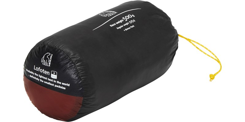 lofoten 2 ulw 151021 nordisk extreme lightweight two man tent burnt red packsack