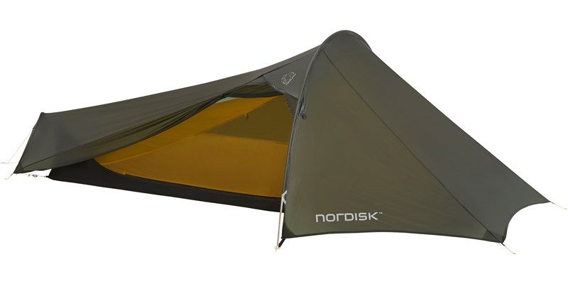 lofoten 1 ulw 151017 nordisk extreme lightweight one man tent forest green front open 2