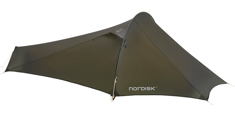 lofoten 1 ulw 151017 nordisk extreme lightweight one man tent forest green front closed 2