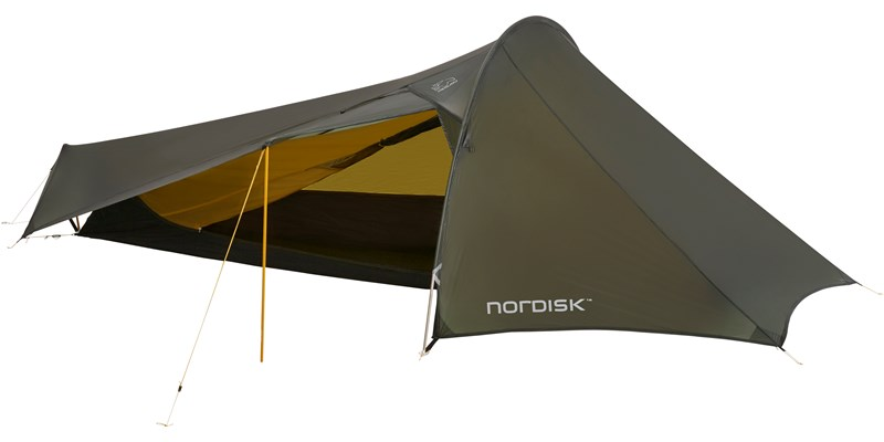 lofoten 1 ulw 151017 nordisk extreme lightweight one man tent forest green front open 1