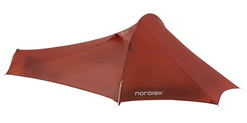lofoten 1 ulw 151018 nordisk extreme lightweight one man tent burnt red closed 2