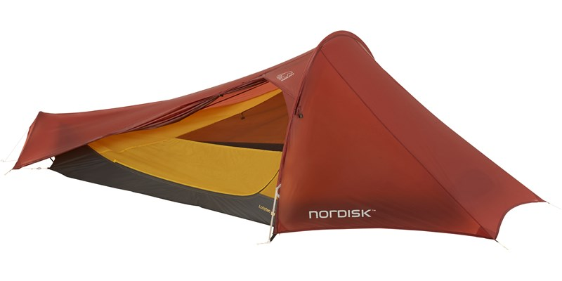 lofoten 2 ulw 151021 nordisk extreme lightweight two man tent burnt red open 2