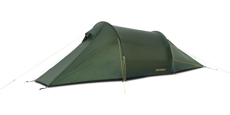 halland 2 lw 151015 nordisk extreme lightweight two man tent forest green side