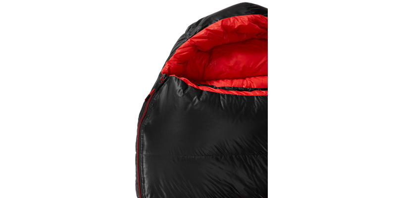 vib 600 right zip yeti down sleeping bag 05 detail