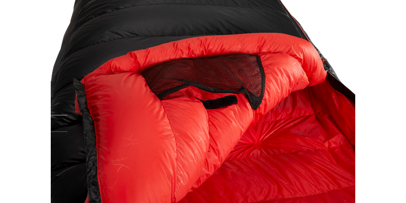vib 600 right zip yeti down sleeping bag 09 detail