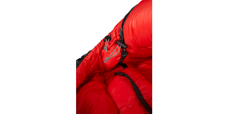 vib 600 right zip yeti down sleeping bag 11 detail