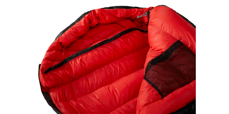 vib 600 right zip yeti down sleeping bag 12 detail