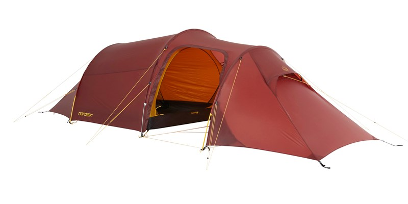 oppland 2 lw 151023 nordisk ultimate lightweight three man tent burnt red 01