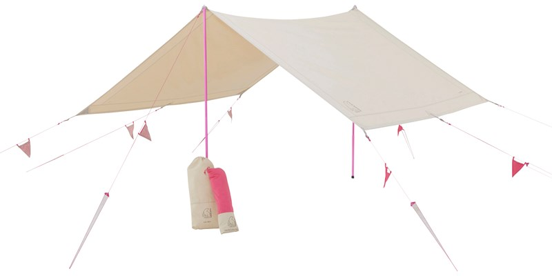 kari tech mini 148062 with 148060 nordisk cma tarp with colour pack sand cherry pink 012