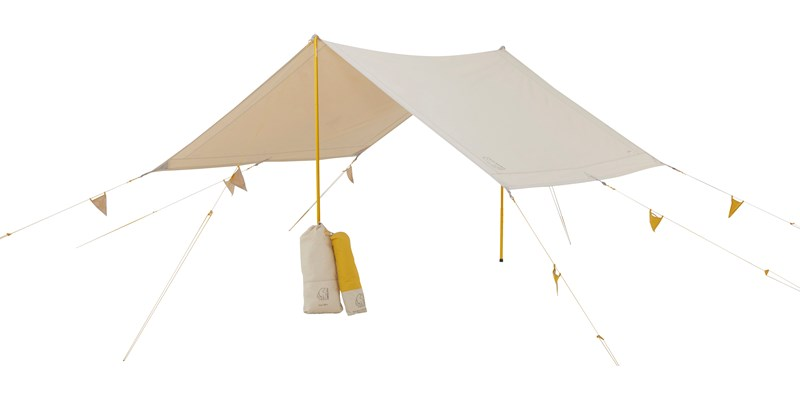 kari tech mini 148062 with 148059 nordisk cma tarp with colour pack sand mustard yellow 012