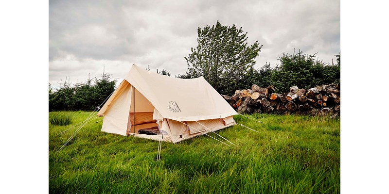 ydun 5 5 m2 142022 nordisk classic retro scout tent technical cotton with a sewn in floor on location 17