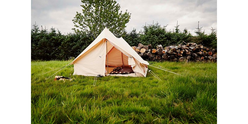 ydun 5 5 m2 142022 nordisk classic retro scout tent technical cotton with a sewn in floor on location 18