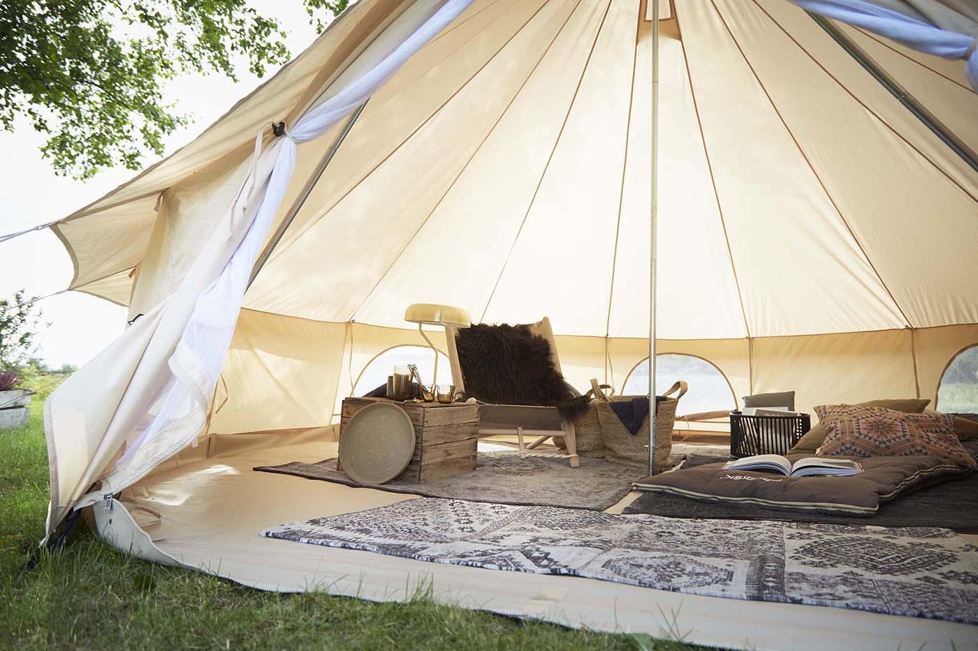 Nordisk Asgard 19.6 m² Telt technical cotton, natural | Find