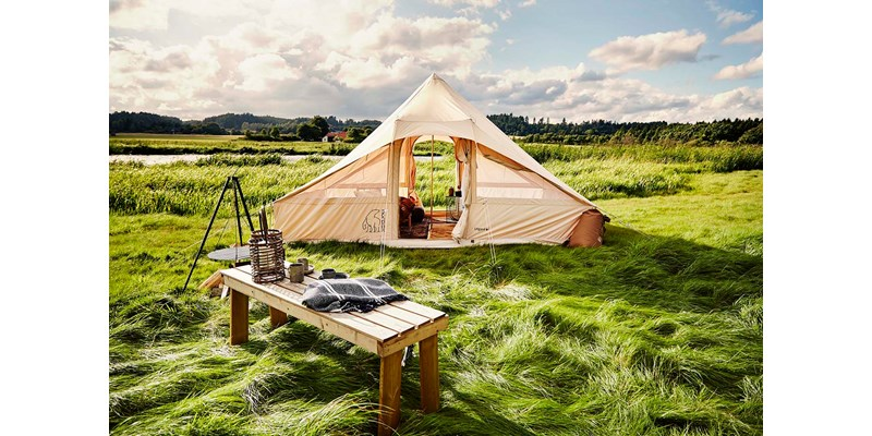 utgard 13 2 m2 142010 nordisk classic retro square tent technical cotton glamping by etnythjem denmark 2017 7