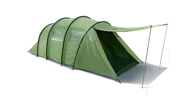 reisa 6 pu 122032 nordisk classic tunnel six man tent dusty green 1