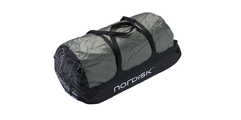 reisa 6 pu 122032 nordisk classic tunnel six man tent dusty green packsack 1