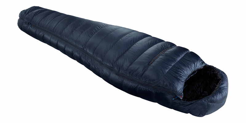 passion three y down sleeping bag mood indigo 03 horizontal closed