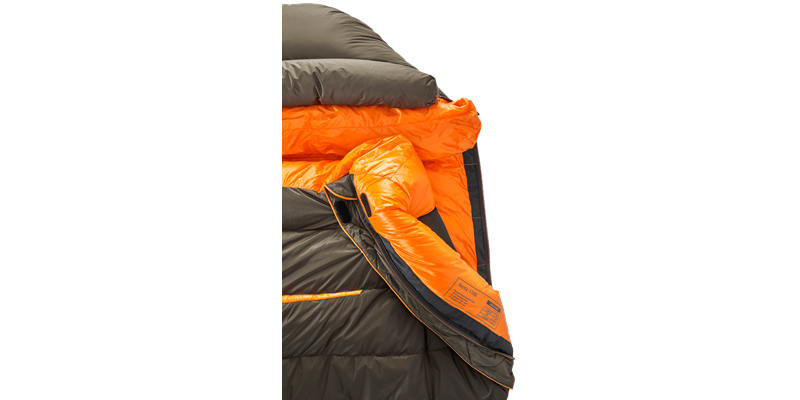 arctic 1100 77621 77631 77641 nordisk down sleeping bag coffee orange 05_low res