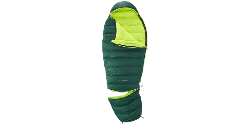 tension junior 84821 nordisk down sleeping bag scarab lime 04_low res
