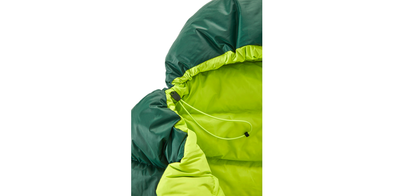 tension junior 84821 nordisk down sleeping bag scarab lime 08_low res