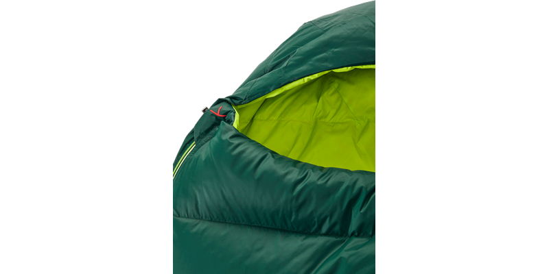 tension mummy 500 zip right 84120 84130 nordisk down sleeping bag scarab lime 04_low res
