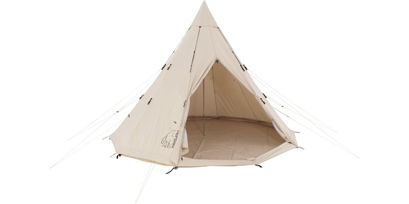 alfheim 19 6 m2 142014 nordisk classic retro tepee tent technical cotton floor front open