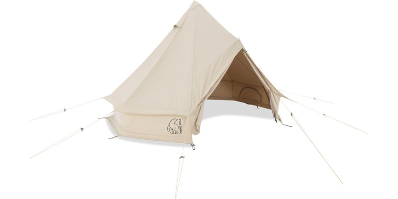 asgard 12 6 m2 142023 nordisk classic retro bell tent technical cotton front open