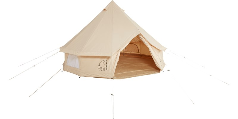 asgard 12 6 m2 142023 nordisk classic retro bell tent technical cotton floor front open
