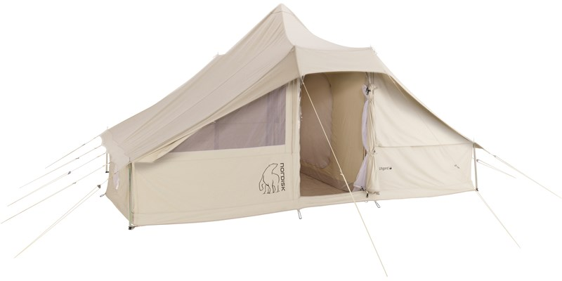 utgard 13 2 m2 142010 nordisk classic retro square tent technical cotton floor cabins front open