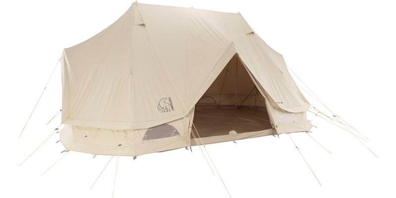 vanaheim 24 m2 142016 nordisk classic retro circus tent technical cotton floor front open