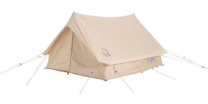 ydun 5 5 m2 142022 nordisk classic retro scout tent technical cotton with a sewn in floor front right