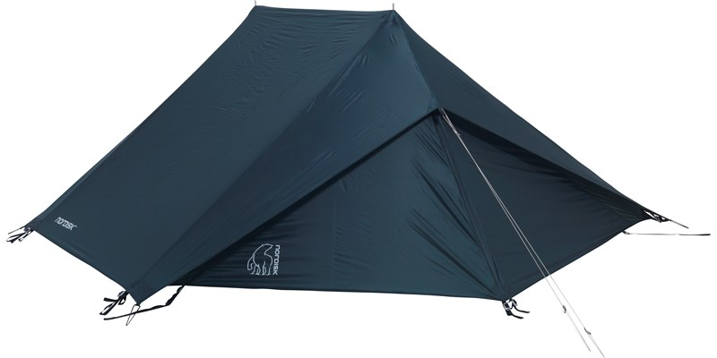 faxe 2 4 si apsis 107150 nordisk classic asymmetric two to four man tent petroleum green front