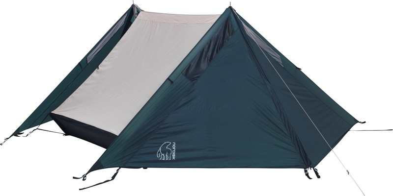faxe 2 4 si apsis 107150 nordisk classic asymmetric two to four man tent petroleum green side alone