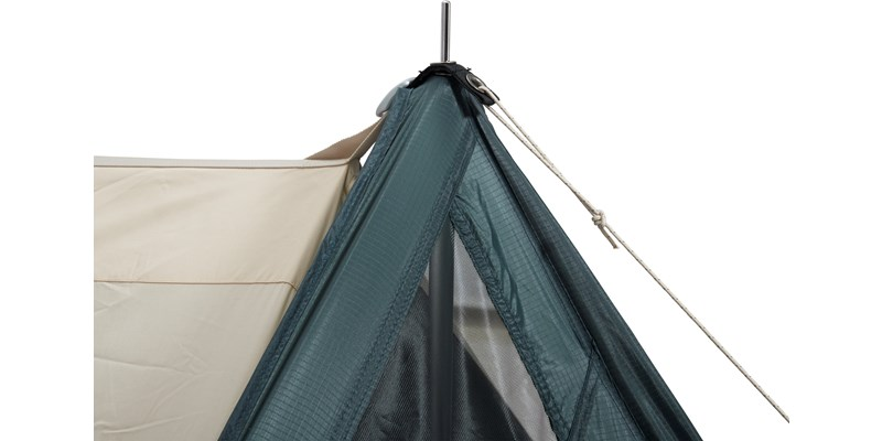 faxe 2 4 si apsis 107150 nordisk classic asymmetric two to four man tent petroleum green detail