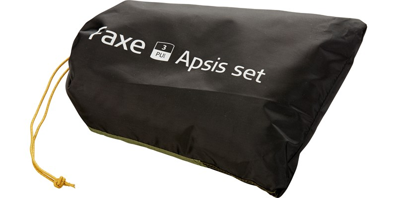 faxe 3 pu apsis 107149 nordisk classic asymmetric three man tent dusty green packsack