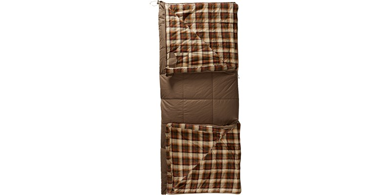 almond minus 2 141003 nordisk rectangular shape sleeping bag bungy cord brown front open top bottom