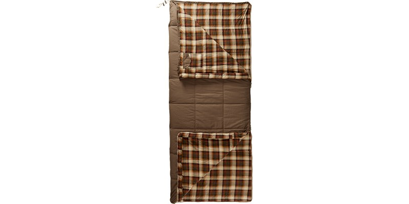 almond plus 10 141004 nordisk rectangular shape sleeping bag bungy cord brown front open top bottom