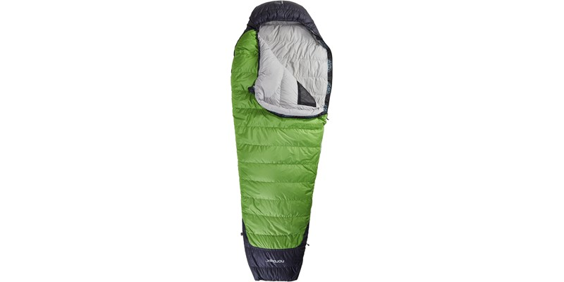 celsius minus 3 110204l nordisk mummy shape sleeping bag peridot green front open