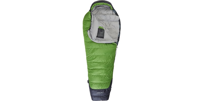 celsius minus 10 110207l nordisk mummy shape sleeping bag peridot green front open