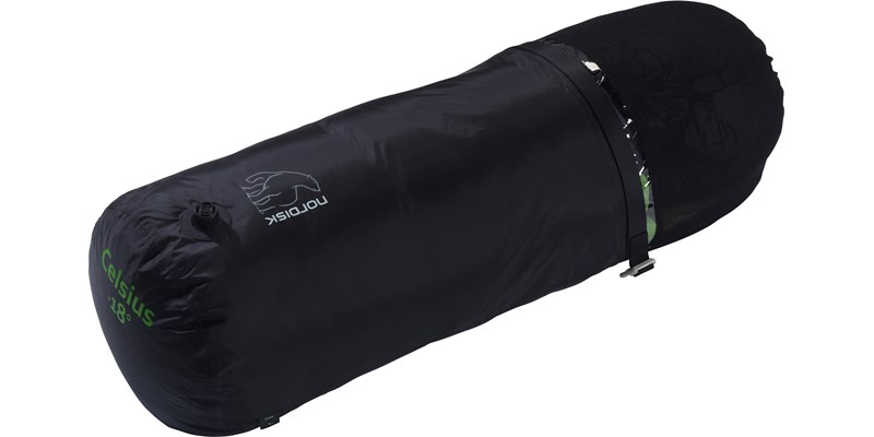 celsius minus 18 110210l nordisk mummy shape sleeping bag peridot green packsack