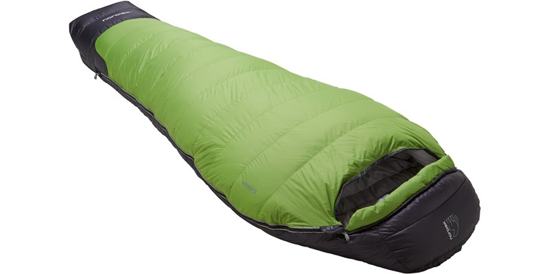 celsius minus 18 110210l nordisk mummy shape sleeping bag peridot green slanted