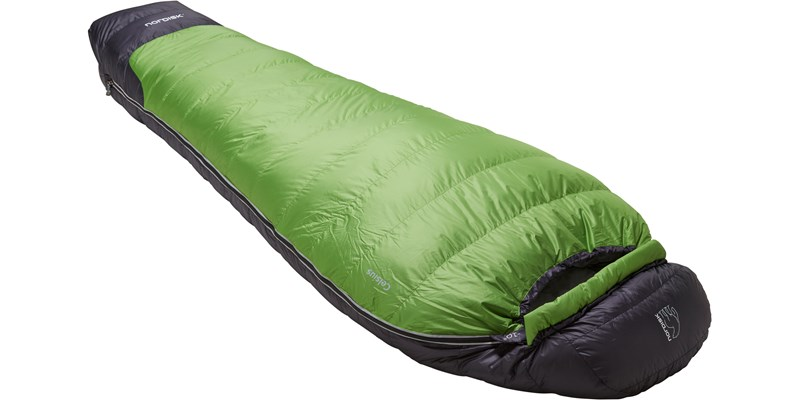 celsius minus 10 110207l nordisk mummy shape sleeping bag peridot green slanted