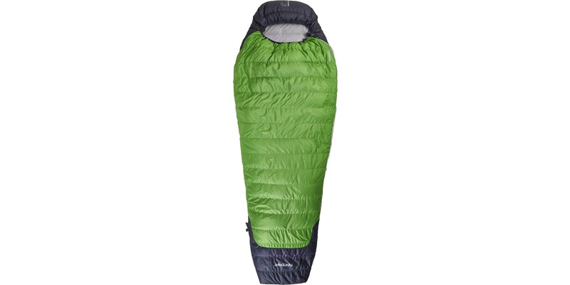 celsius plus 4 110201l nordisk mummy shape sleeping bag peridot green front