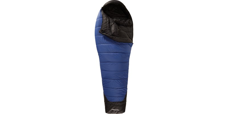gormsson minus 2 110409 nordisk mummy shape sleeping bag limoges blue front open