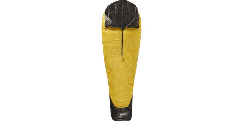 oscar plus 10 110425 nordisk mummy shape sleeping bag black front open