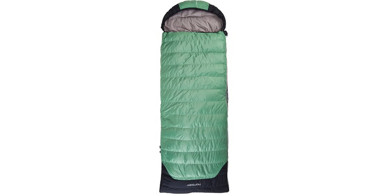 selma 0 110219l nordisk rectangular shape sleeping bag mineral green front
