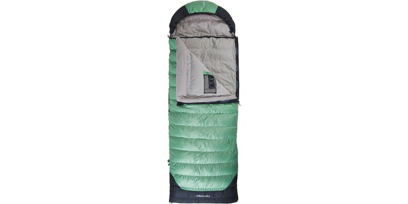selma minus 8 110222l nordisk rectangular shape sleeping bag mineral green front open top