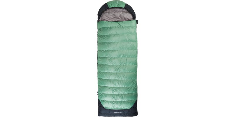 selma minus 8 110222l nordisk rectangular shape sleeping bag mineral green front