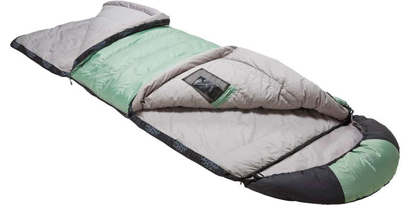 selma minus 8 110222l nordisk rectangular shape sleeping bag mineral green slanted open top bottom